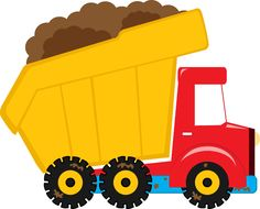 Meios de Transporte - Minus Construction Birthday Parties, Construction Theme, Tractor Silhouette, Cliparts Free, Art Transportation, Benne, Dump Truck, Birthday Party Themes, Baby Toys