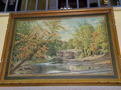Riverscape oil on canvas