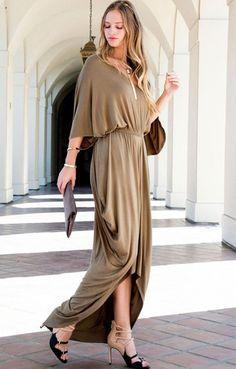 """""""Misty"""" Maxi Dress - Olive"""