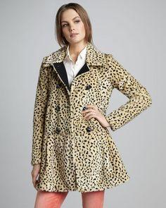 Free PeopleLeopard-Print Faux-Fur Coat