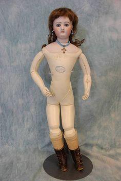 "Antique All Original 17"" Jumeau French Fashion Doll C 1870 Dress Slip Jewelry | eBay"