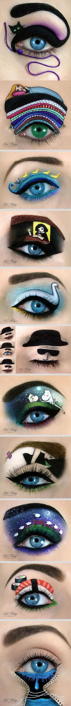 I would never do my makeup like this, but they look really cool and it's a piece of artwork.