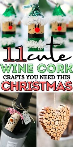 Cheap Christmas Crafts, Christmas Crafts For Toddlers, Christmas Ornament Crafts, Christmas Wine, Homemade Christmas Gifts, Christmas Decor, Holiday Gifts, Christmas Presents, Wine Craft