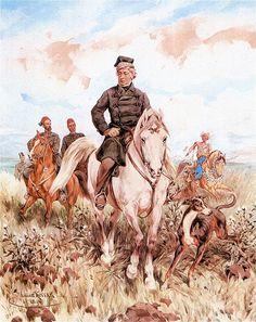 Juliusz Kossak: Adam Mickiewicz z Sadykiem Paszą w Turcji. 1890. Akwarela. 59 x 47 cm. Muzeum Narodowe, Poznań. Muzeum Sztuki, Łódż.