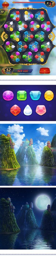 Chi Gems Blitz - Spin on Behance