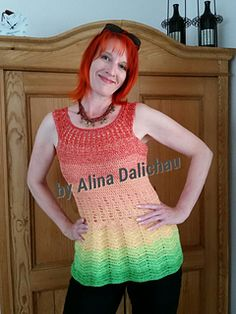 Tunikashirt Bella Donna, Design by Alina Dalichau. Von oben gehäkelt. Ravelry Store.