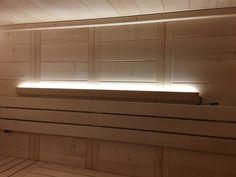 LED Light Bar - Almost Heaven Saunas Sauna Accessories, Barrel Sauna, Sauna Design, Interior Led Lights, Led Light Bars, Bar Lighting, Heaven, Indoor, Saunas