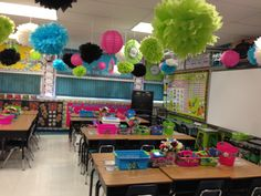 Love the colors of this classroom!! Maybe next year!!