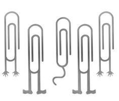 Clips con figuras  Todos los clips tienen la misma forma ... menos éstos que cobran personalidad propia y se transforman en mini-figuras con pies y manos.
