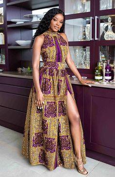 Ankara Maxi Dress, African Maxi Dresses, Latest African Fashion Dresses, African Dresses For Women, African Print Fashion, African Attire, African Wear, African Women, African Outfits