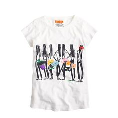 Donald Robertson keeps pretty busy. Not only is he the head of creative development at Bobbi Brown, but he's earned a cult-following with his fun, fanciful and fashionable illustrations (thanks to his addicting Instagram®, @donalddrawbertson). Now, she can join in on the fun with a collection of colorful tees, drawn exclusively for us. <ul><li>Cotton.</li><li>Machine wash.</li><li>Import.</li></ul>