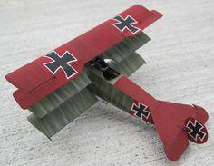Eduard Fokker Dr.1 done in one of Richthofen's mounts.
