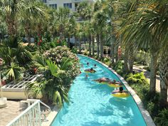 Lazy river at Destin West Beach and Bay Resort. We stayed here and it was wonderful! #BeachVacation