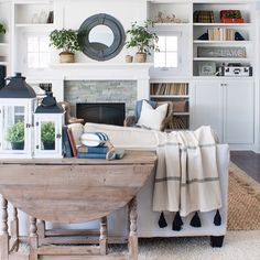 love the tone on tone feel of this great room.