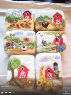 Little red barn limited edition series by Mango Fleur at mangofleur.com