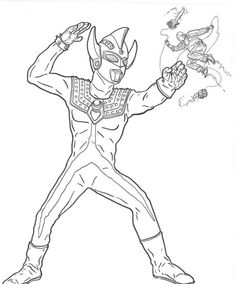 ultraman zero coloring pages - photo#37