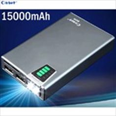 (CAGER) B030-6 15000mAh Dual USB Mobile Power Bank with SD Card Slot/Flashlight f iPhone Samsung Mobile Phone