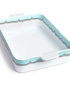 Whim by Martha Stewart Collection Mint Embroidery Ceramic Lasagna Pan, Only at Macy's