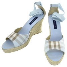 Burberry Blue Wedges $236
