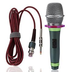 "Anykey ANK-58B Cardioid Dynamic Vocal Microphone with 19.7 Feet XLR-to-1/4"" Cable"