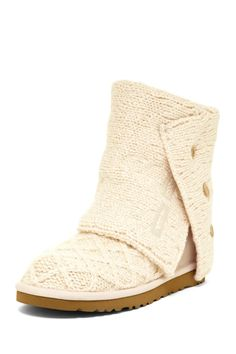 Should never see actual snow and slush. Keep for slippers or waste your money and suffer frozen toes. UGG Australia Lattice Cardy Knit Boot