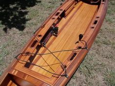 Triple X Fishing Boat build along.The boat is done! Sit On Kayak, Canoe And Kayak, Wooden Kayak, Wooden Boats, Cool Boats, Small Boats, Kayak Boats, Fishing Boats, Kayak Outriggers