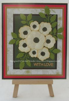 Tinyrose's Craft Room: Christmas Rose Christmas Card made with the Christmas Rose die set by Creative Expressions