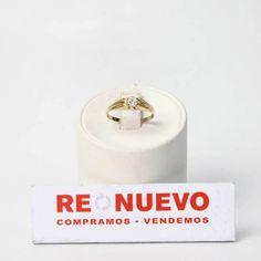 Solitario de oro de segunda mano de 18 kts. con circonita E273510C | Tienda online de segunda mano en Barcelona Re-Nuevo