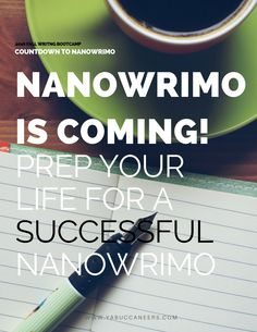 NaNoWriMo is coming! Are you prepared? Check out our tips for prepping your life for a successful NaNoWriMo >>>  http://www.yabuccaneers.com/blog/2016/10/9/prep-your-life-for-a-successful-nanowrimo