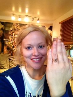 Congratulations, Alicia & Stephan! And that peach sapphire ring looks gorgeous on you!