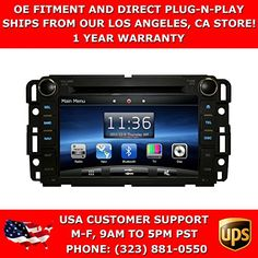OttoNavi Chevrolet Silverado Multimedia in-Dash Double Din OEM Replacement Car Radio with 6 CD Virtual Disc Memory (Black) Car Tracking Device, Gps Tracking, Chevrolet Traverse, Chevrolet Tahoe, Radios, Double Din Car Stereo, Virtual Memory, Best Amazon Products, Car Audio Systems