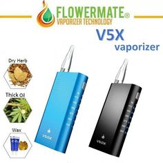 Flowermate V5.0X Vaporizer for Wax/Dry Herb Available at Vapepensales.com #Vapepensales