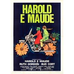 French Film Poster: Harold and Maude starring Ruth Gordon Bud Cort ~ Whether in French or English, a must see - Ruth Gordon gives one of my favorite performances of her career. Will love her forever. Best Movie Posters, Cool Posters, Art Posters, Norman Rockwell, Bud Cort, Ruth Gordon, Poster Retro, Poster Poster, Movie Posters