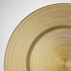 Plate Liner Glass/Gold Swirl
