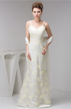 Lovely Cream Lace Sweet Dress Long Formal Beaded Autumn Backless Classy Modern Tight