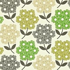 110413 - Orla Kiely For Harlequin Rhododendron Nettle Feature Wallpaper Yellow Green
