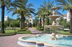 Vista Cay Fountain/Clubhouse  #vacationrental #vistacay #orlando #florida #universal #vacation #homes #disney #fun #rentals