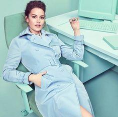 """ Fahriye Evcen for Koton "" Turkish Actors, Adriana Lima, Face Claims, Most Beautiful Women, I Movie, Raincoat, Actresses, Stylish, Celebrities"
