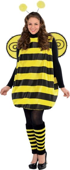 Adult Darling Bee Costume Plus Size - Party City  sc 1 st  Pinterest & 39 best Bumble bee costumes images on Pinterest | Bumble bees Bee ...