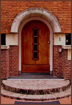Kingdom Of The Netherlands, Arched Doors, Dutch Door, Love Your Home, Pathways, Stairways, Bricks, Front Porch, Wonders Of The World