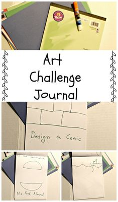 Art Challenge Journal - Get kids excited about art.  Are you looking for a fun way to get kids drawing? Don't miss this art challenge journal the kids are sure to love! #Art #homeschool #education