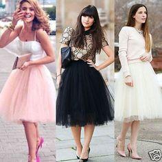 Fashion Womens Girls Princess Ballet Tulle Tutu Skirt Sexy Rockabilly Maxi Ball Gown Skirts