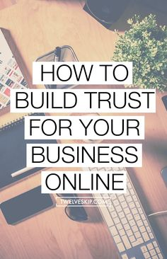 Do you want to boost your sales? Want to improve your business? Learn how to build trust for your business online. Click the pin for super tips!
