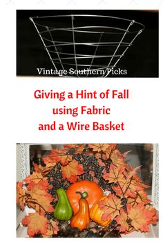 Giving a Hint of Fall with an Ordinary Wire Basket Planter via @VSPicks