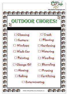Outdoor Chore Chart  http://www.chartjungle.com/chores.html