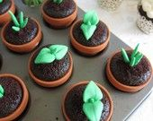sprouted cupcakes