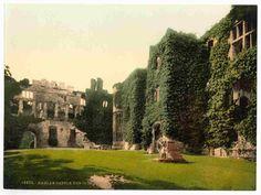 latest addition Raglan Castle, The courtyard, England
