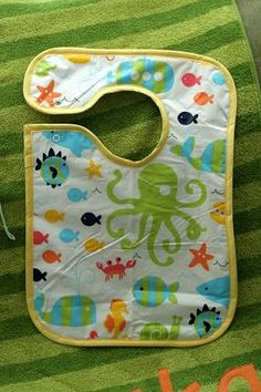 bib made from vinyl table cloth