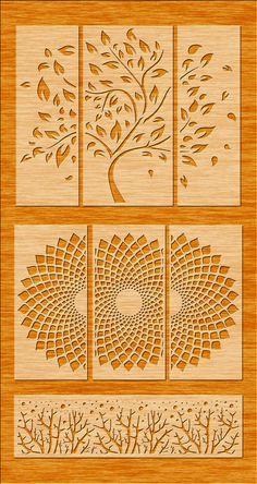 icu ~ Pin on laser ~ 3 Tree Wall Hanging Wall Decor Decal Wall Vinyl Tree Metal Clock, Metal Wall Art, Wood Art, Tree Stencil For Wall, Tree Wall Art, Stencil Painting, Wall Vinyl, Wall Decals, Wall Stickers