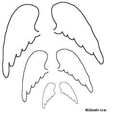 Free Patterns to Print   Paper Doll Printables Angel Wings,HOPOFF Printable Angel Wing ...